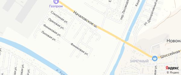 Началовский 3-й переулок на карте Астрахани с номерами домов