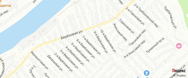 Березовая 8-я улица на карте Астрахани с номерами домов