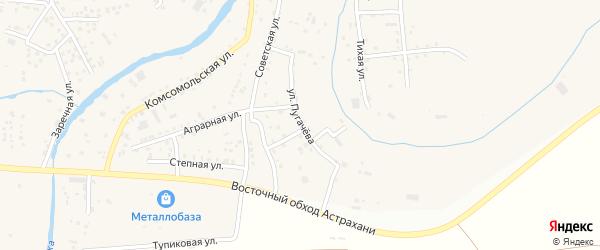Улица Пугачева на карте села Три Протоки с номерами домов