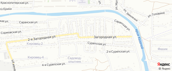 Колымская улица на карте Астрахани с номерами домов