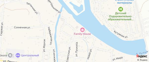 Восточная улица на карте села Три Протоки с номерами домов