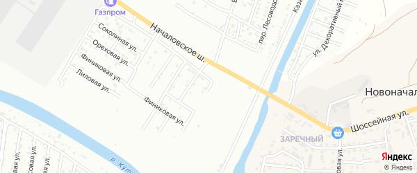 Началовский 4-й переулок на карте Астрахани с номерами домов