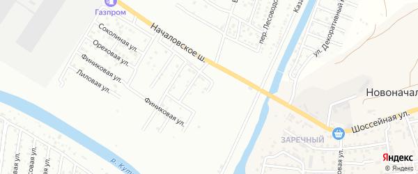 Началовский проезд на карте Астрахани с номерами домов