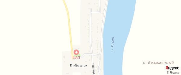 Улица Степная 37 Б на карте села Лебяжьего с номерами домов