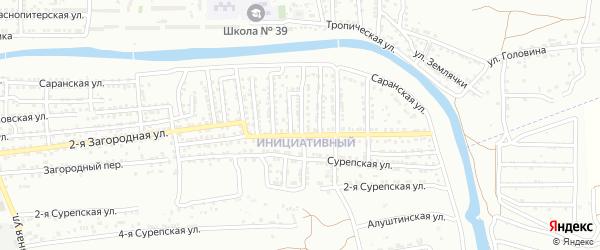 Анадырская улица на карте Астрахани с номерами домов