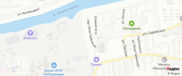 Чайкиной переулок на карте Астрахани с номерами домов