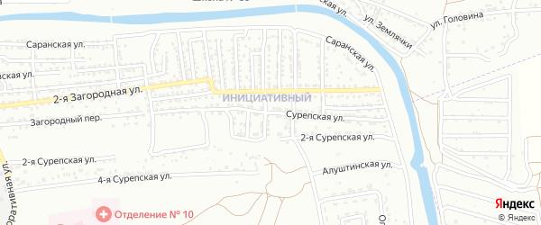 Сурепская улица на карте Астрахани с номерами домов