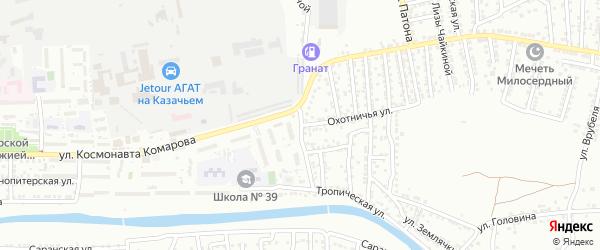 Космическая улица на карте Астрахани с номерами домов