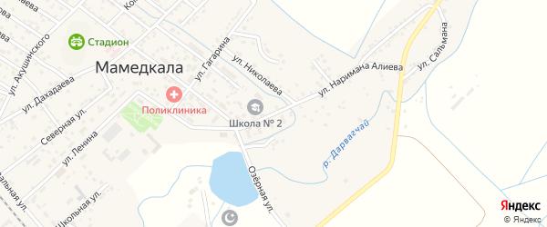 Улица Наримана Алиева на карте поселка Мамедкалы с номерами домов
