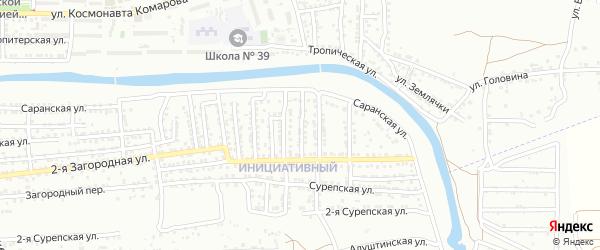Махачкалинская 2-я улица на карте Астрахани с номерами домов