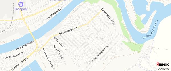 Территория Садовод на карте Астрахани с номерами домов