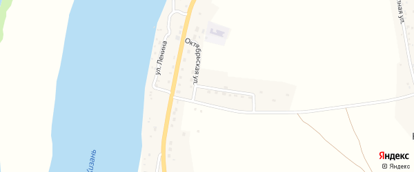 Октябрьская улица на карте Караульного села с номерами домов