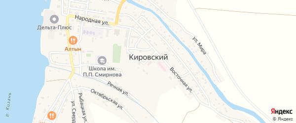 Улица Свердлова на карте Кировского поселка с номерами домов