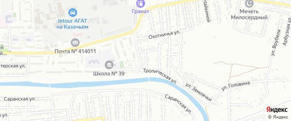 Томская улица на карте Астрахани с номерами домов