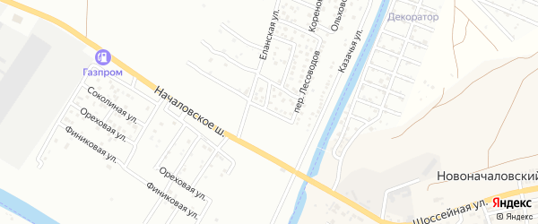 Кореновский 1-й переулок на карте Астрахани с номерами домов