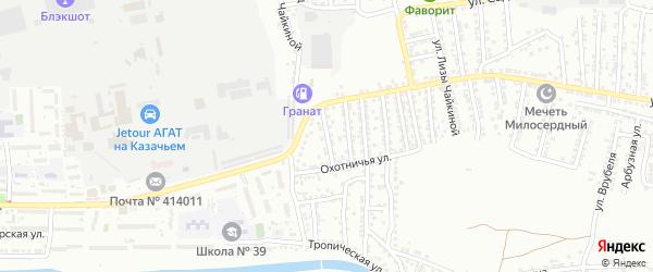 Звенигородская улица на карте Астрахани с номерами домов