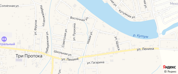 Новая улица на карте села Три Протоки с номерами домов