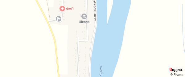 Набережная улица на карте села Лебяжьего с номерами домов