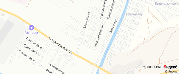 Бакурский 1-й переулок на карте Астрахани с номерами домов
