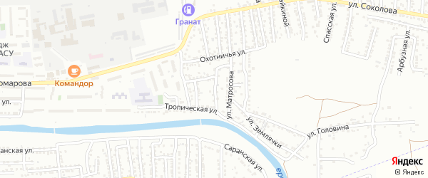 Читинская улица на карте Астрахани с номерами домов