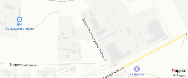 Улица Энергетическая 5-й проезд на карте Астрахани с номерами домов