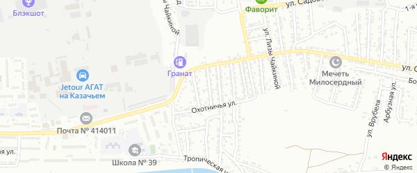 Архангельская улица на карте Астрахани с номерами домов