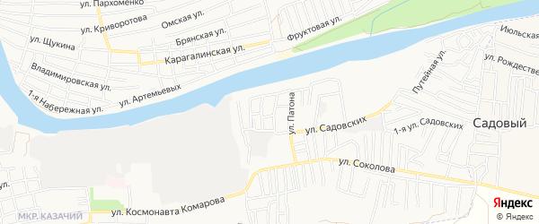 СТ Главнефтеснаб на карте Астрахани с номерами домов
