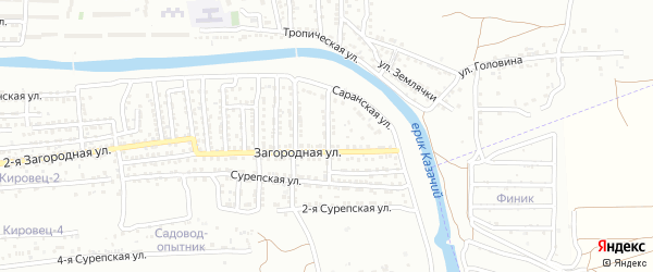 Улица Крупнова на карте Астрахани с номерами домов
