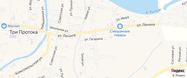 Улица Гагарина на карте села Три Протоки с номерами домов