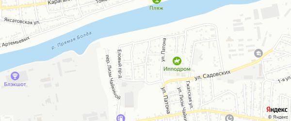 Мукачевский 1-й переулок на карте Астрахани с номерами домов