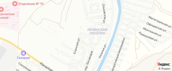 Кореновская 2-я улица на карте Астрахани с номерами домов