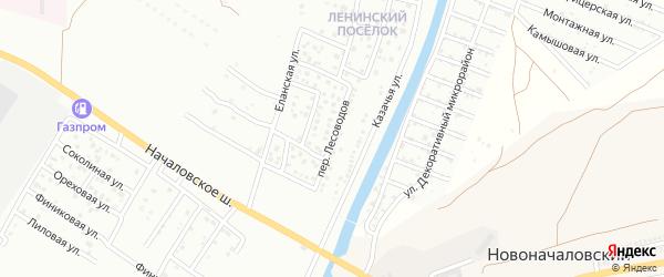 Переулок Лесоводов на карте Астрахани с номерами домов