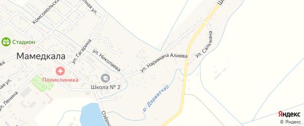 Красноармейская улица на карте поселка Мамедкалы с номерами домов