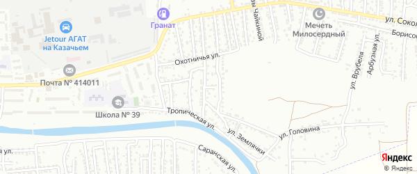 Переулок Александра Матросова на карте Астрахани с номерами домов