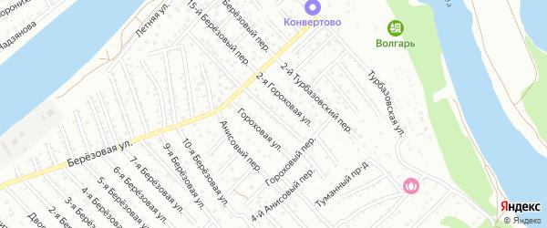 Гороховая 1-я улица на карте Астрахани с номерами домов
