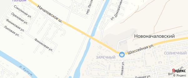 Улица Началовское шоссе на карте Астрахани с номерами домов