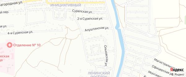 Геленджикская улица на карте Астрахани с номерами домов