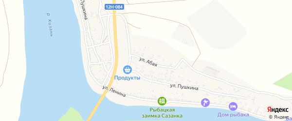 Абая улица на карте Верхнекалиновского поселка с номерами домов