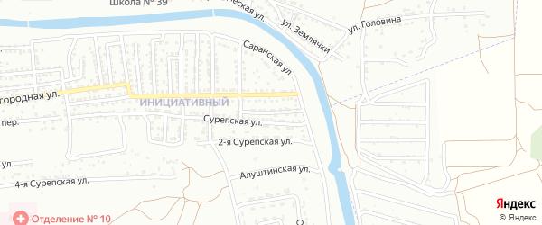 Сурепская 3-я улица на карте Астрахани с номерами домов