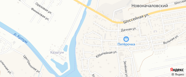 Коммунальная улица на карте Новоначаловский поселка с номерами домов