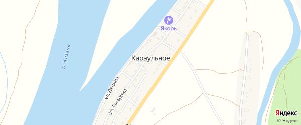 Абая улица на карте Караульного села с номерами домов