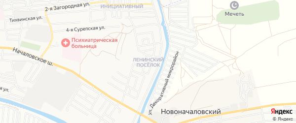 Ленинский ГСК на карте Астрахани с номерами домов