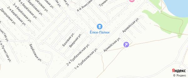 Турбазовская 2-я улица на карте Астрахани с номерами домов