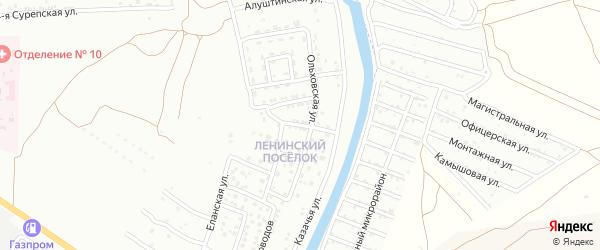 Бакурский 5-й переулок на карте Астрахани с номерами домов