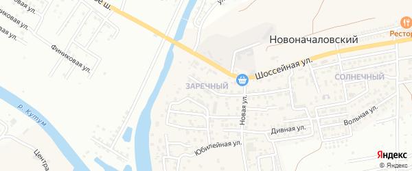 Заречный микрорайон на карте Новоначаловский поселка с номерами домов