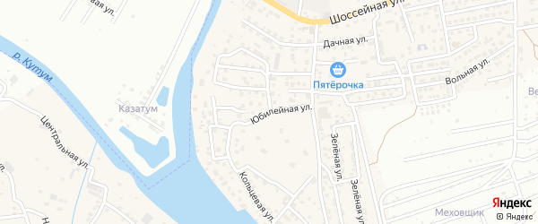 Юбилейная улица на карте Новоначаловский поселка с номерами домов