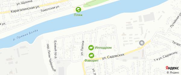 Пешеходный переулок на карте Астрахани с номерами домов