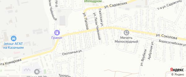 Улица Москвина на карте Астрахани с номерами домов