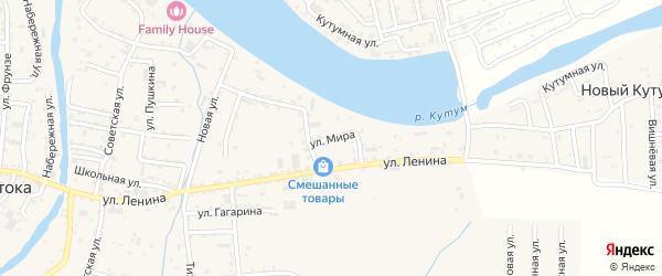 Улица Мира на карте села Три Протоки с номерами домов