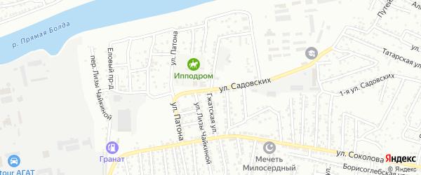 Гжатская улица на карте Астрахани с номерами домов